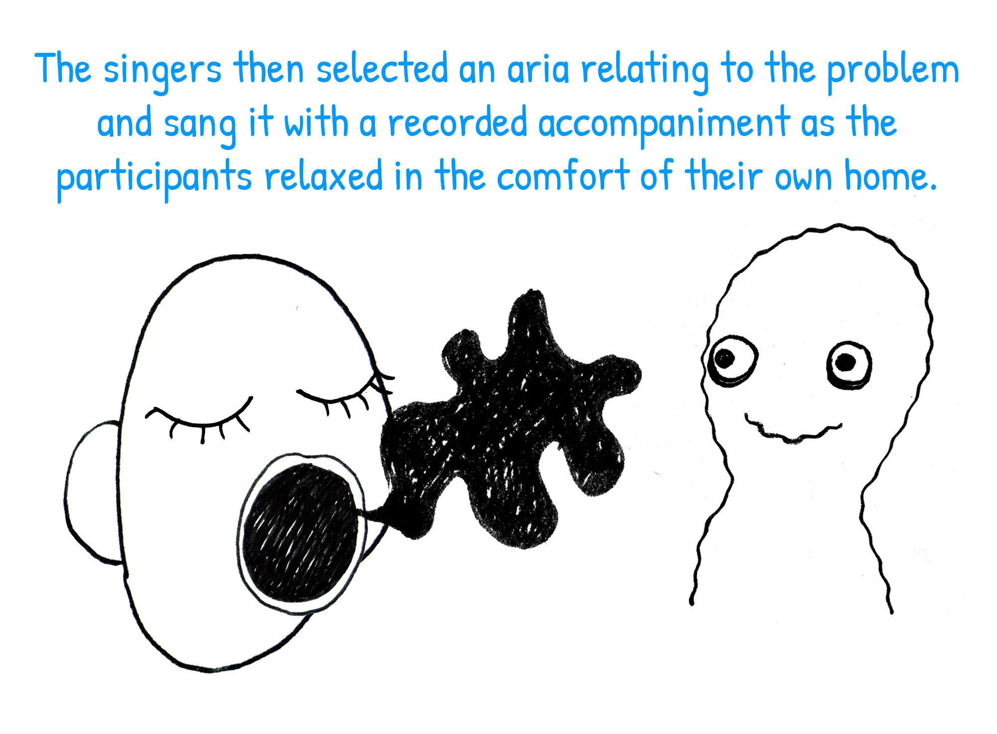 The singers then selected an aria relating to the problem